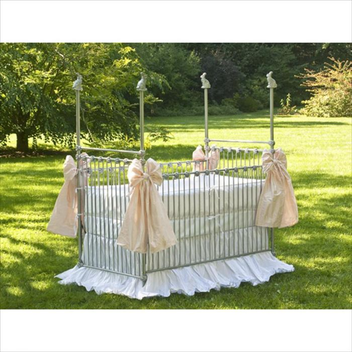 Bunnies Iron Crib by Corsican