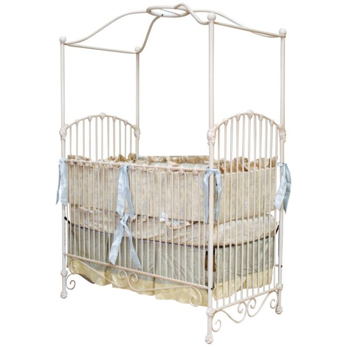 Arched Side Canopy Iron Crib by Corsican