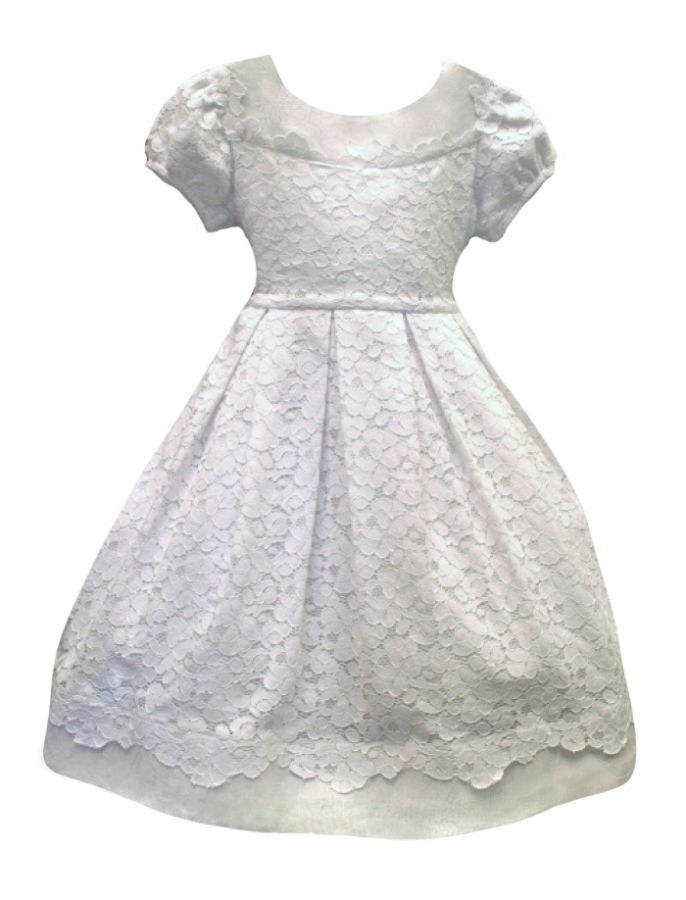 Gala Dress in Cotton Lace by Isabel Garreton