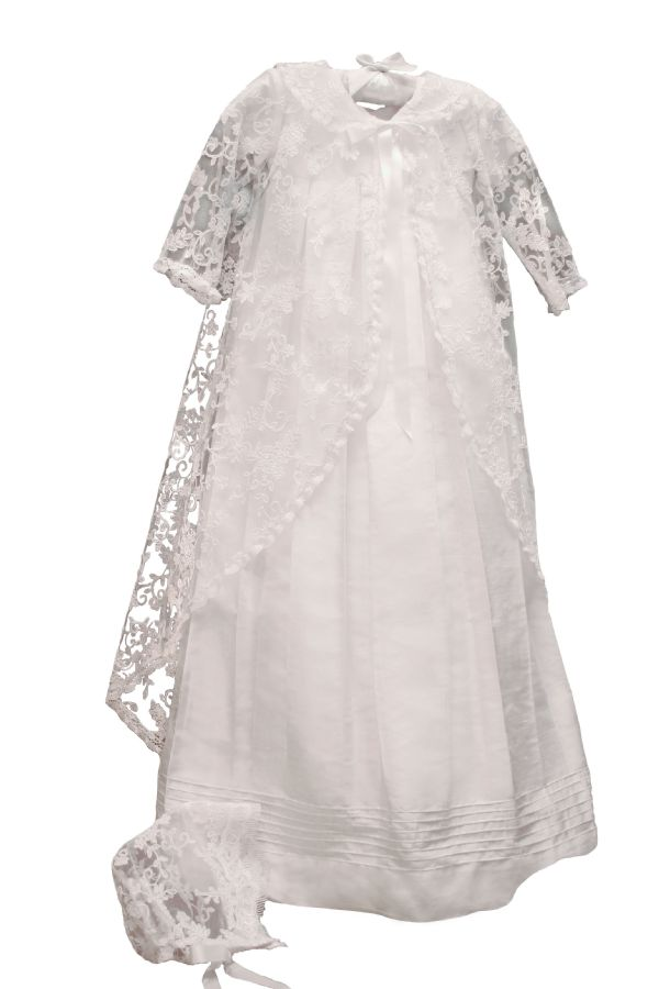 Renaissance Christening Gown with Lace by Isabel Garreton