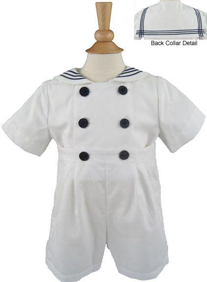 Sailor Suit- White by Katie & Co/Gordon & Co