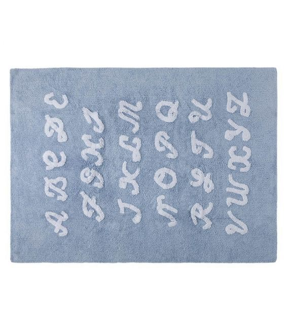 ABC Blue Rug by Lorena Canals