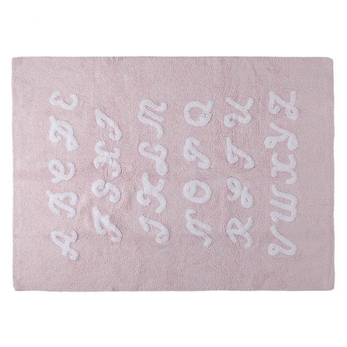 ABC Pink Rug by Lorena Canals
