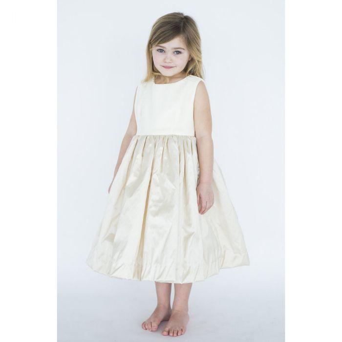 Camilla Dress in Silk Velvet & Silk by Lulla Smith