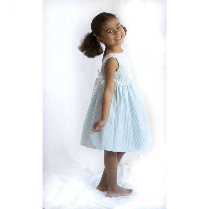 Dora Dress in Seersucker by Lulla Smith