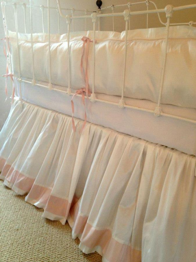 Manhattan Crib Baby Bedding in Pink by Lulla Smith