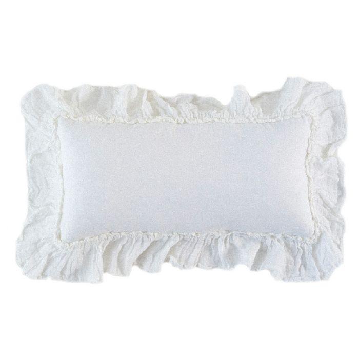 Linen Whisper Kidney Throw Pillow by Bella Notte Linens