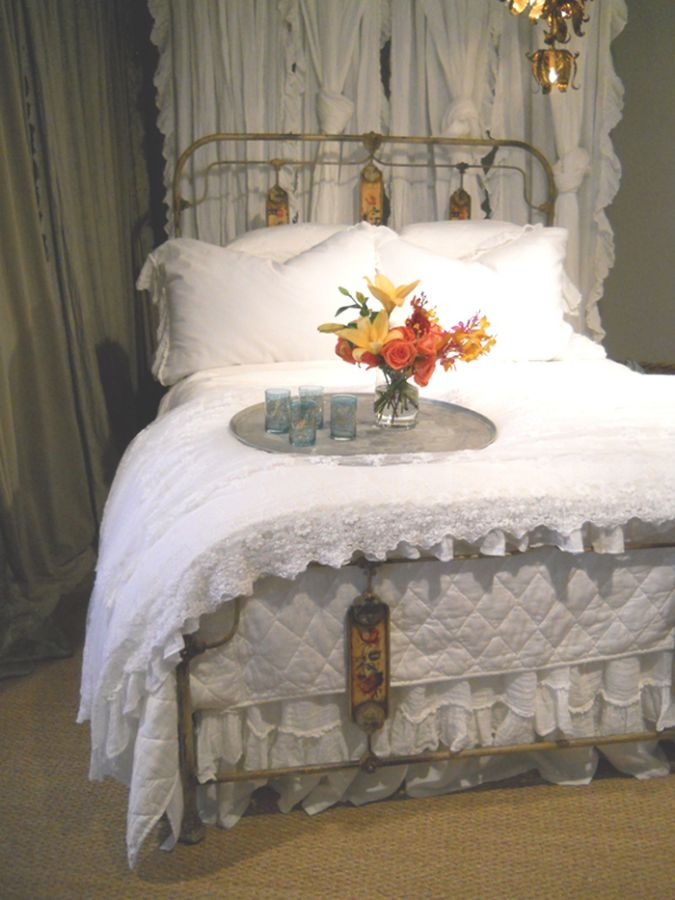 All in White Olivia & Linen Children's-Adult Bedding by Bella Notte Linens