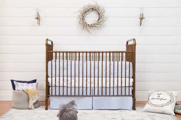 Abigail 3-in-1 Convertible Crib with Toddler Bed Conversion Kit in Vintage Gold by Million Dollar Baby Classic