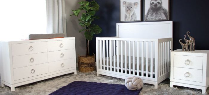 Artisan Nursery Room Inspiration in Navy & White by Newport Cottages