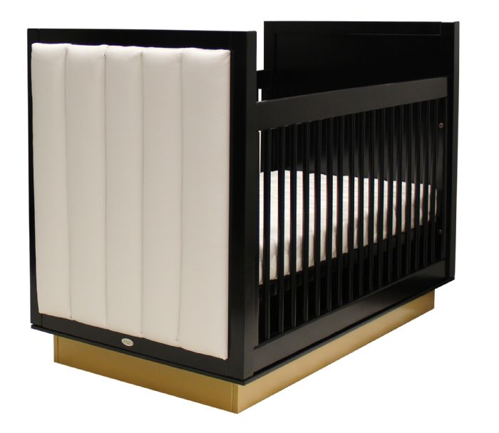 Astoria Crib with Upholstered Panels by Newport Cottages