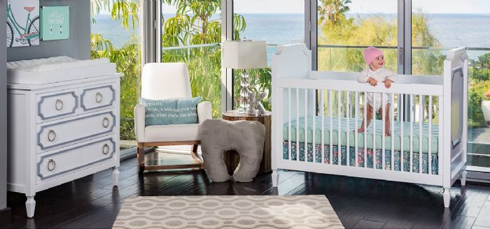 Beverly Nursery Room Inspiration in Pastel by Newport Cottages