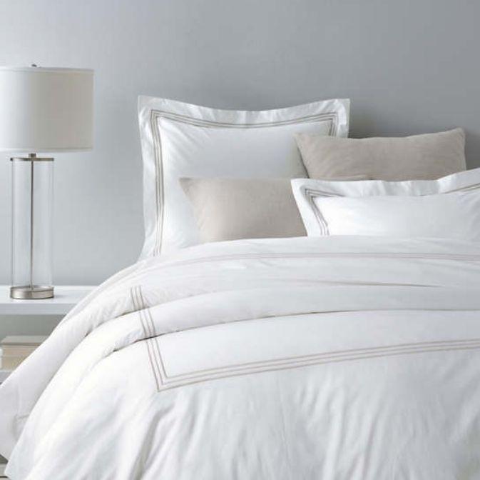 Trio Pearl Grey Bedding by Pine Cone Hill