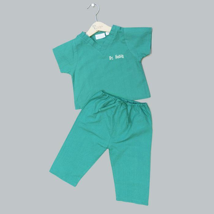 Personalized My First Scrubs in Green by Bibi's Custom