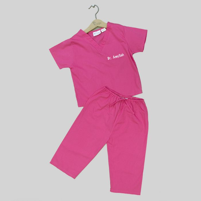 Personalized My First Scrubs in Pink by Bibi's Custom