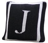 Classic Monogram Single Border Pillow by Butterscotch Blankees