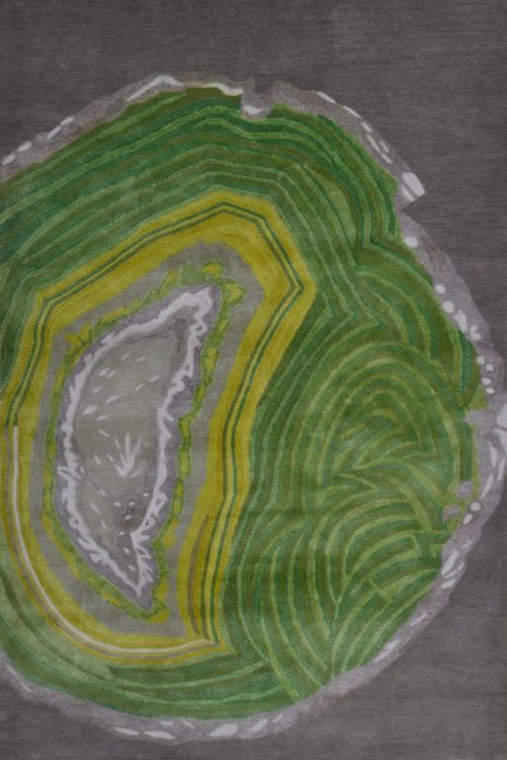 Agate Rug in Yellow and Green by Rug Market