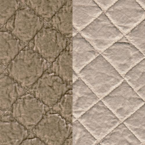 Silk Velvet Quilted Euro Shams in SAND by Bella Notte Linens