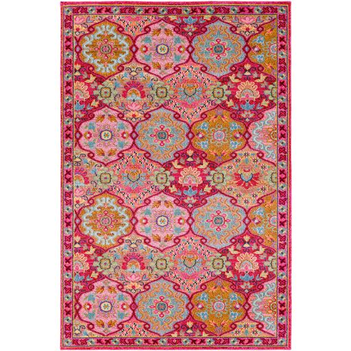 Anika Patch Rug in Pink by Surya