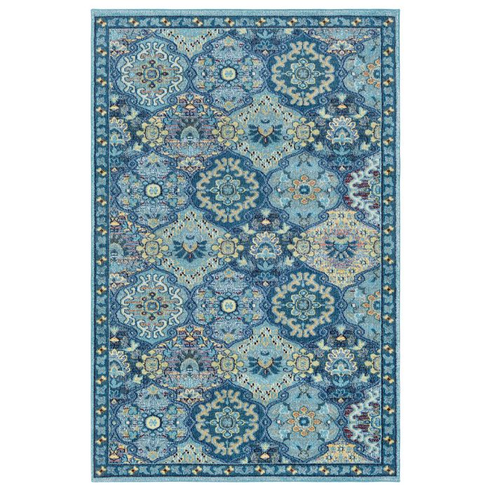 Anika Patch Rug in Blue by Surya