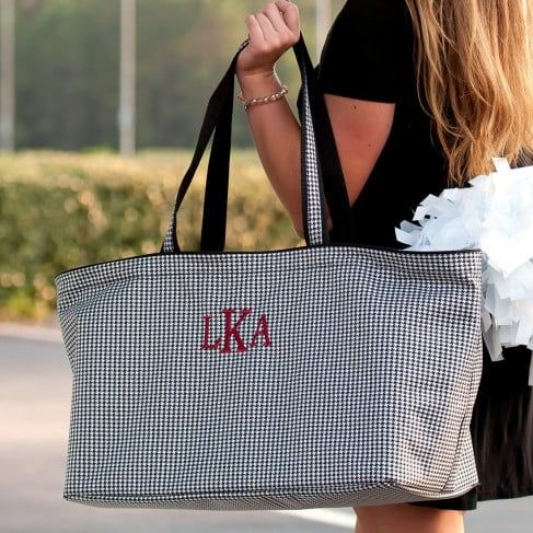 Houndstooth Ultimate Tote by Monogram Boutique