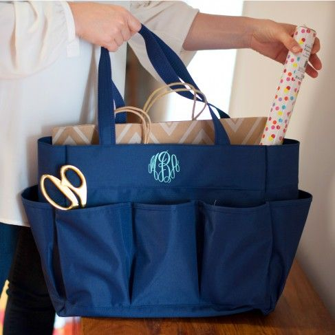 Carry All Bag in Navy by Monogram Boutique