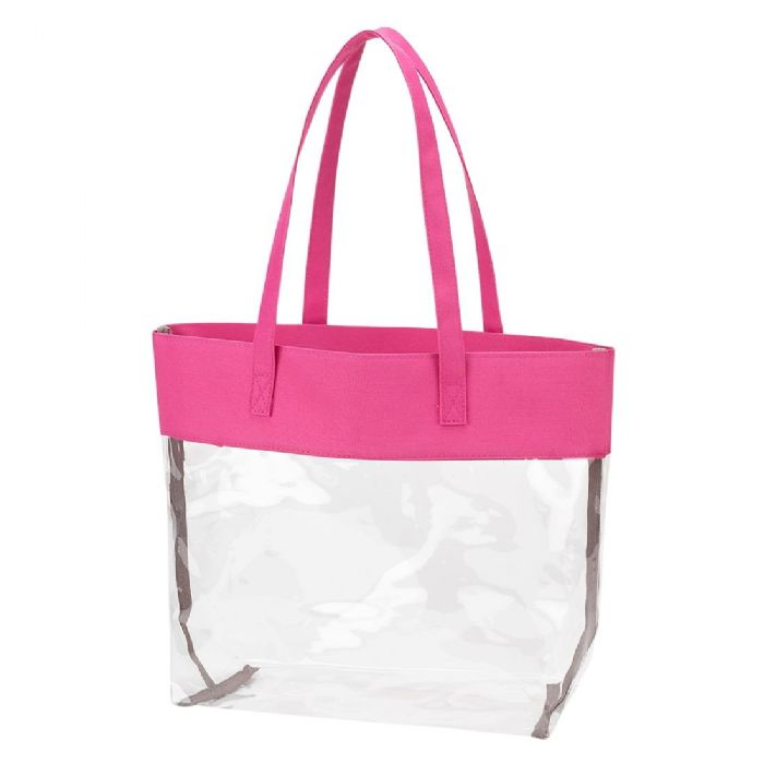 Clear Tote in Hot Pink by Monogram Boutique