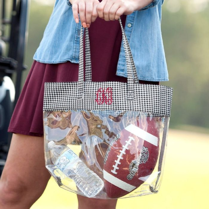 Clear Tote in Houndstooth by Monogram Boutique