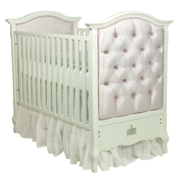Bordeaux French Panel Upholstered Crib in Majestic Lilac by AFK Art For Kids