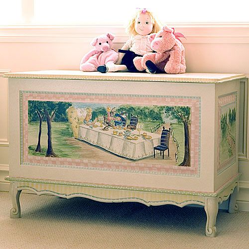 French Toy Chest in Alice in Wonderland by AFK Art For Kids