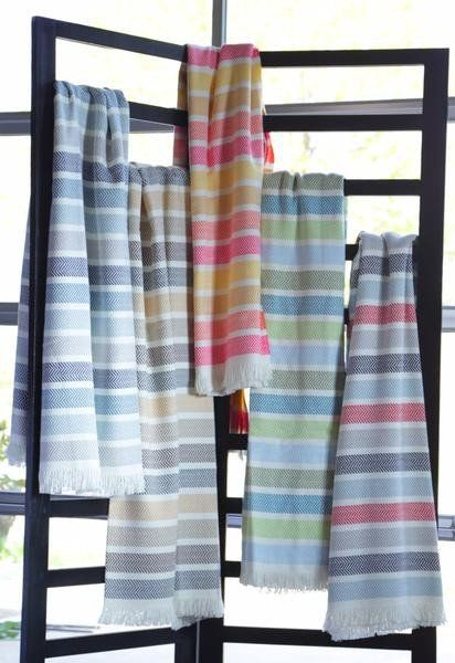 Unbrushed Horizontal Multicolor Stripe Throw by ASI