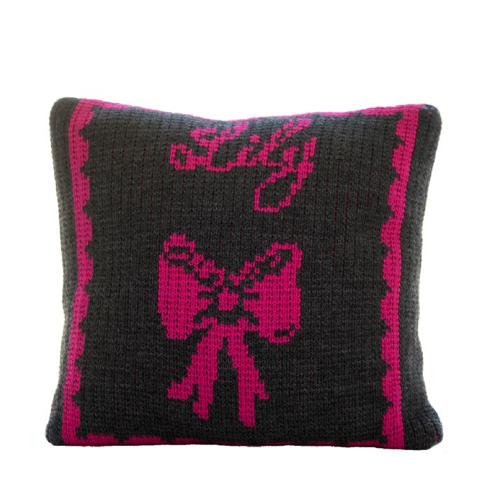 Bow Pillow by Butterscotch Blankees