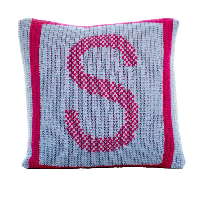 Initial Tweed Pillow by Butterscotch Blankees