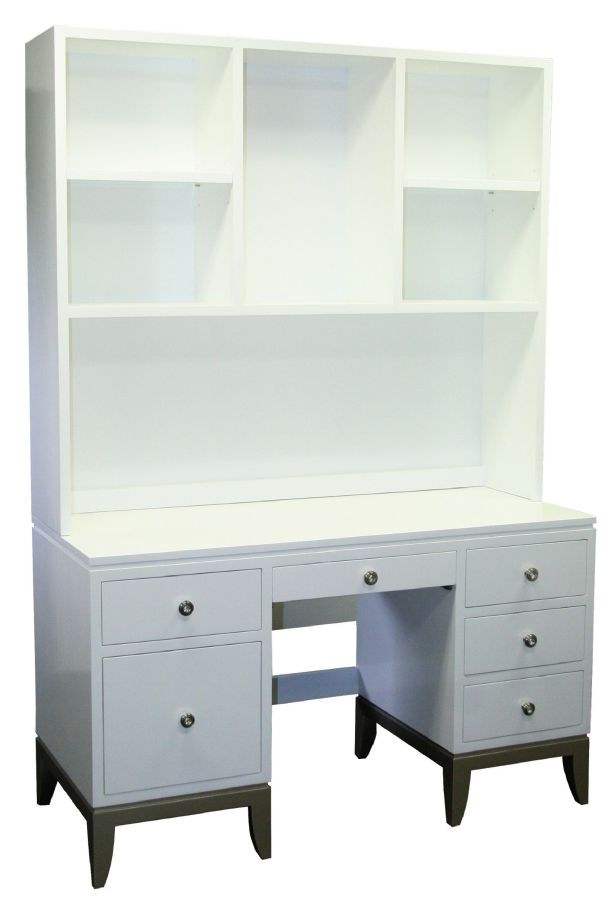Bel Air Desk with Hutch & Milano Knobs by Country Cottage