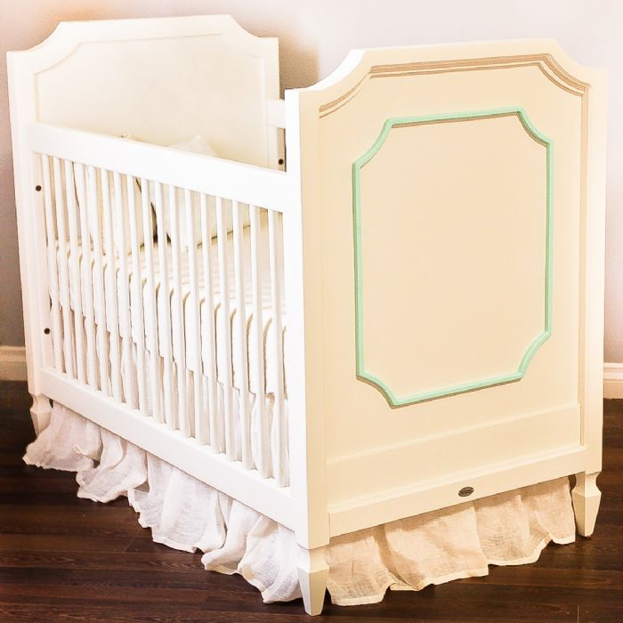 Beverly Crib in Vanilla with Mint by Newport Cottages