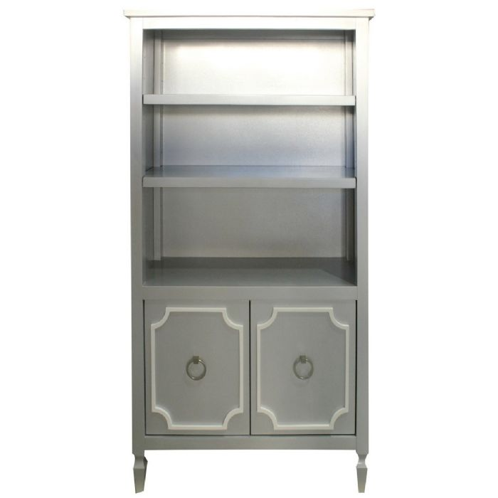 Beverly Bookcase in Platinum Silver by Newport Cottages