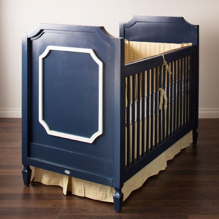 Beverly Crib in Deep Blue with White by Newport Cottages