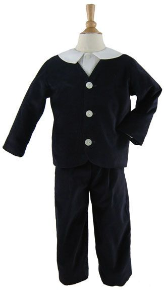 Gabardine Eton Suit with Long Pants in Black by Katie & Co/Gordon & Co
