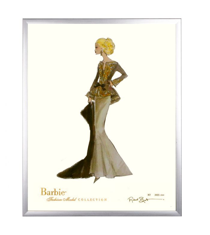 Limited Edition Fashion Model Barbie- Capucine in Silver by AFK Art For Kids