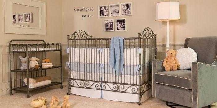Casablanca 3 in 1 Convertible Crib in Pewter by Bratt Decor