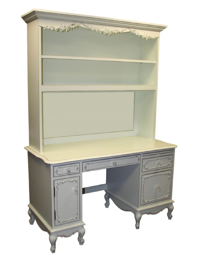 Country French Desk & Hutch by Country Cottage