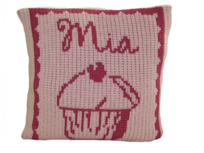 Cupcake Pillow by Butterscotch Blankees