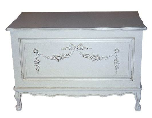 French Toy Chest with Mouldings by AFK Art For Kids