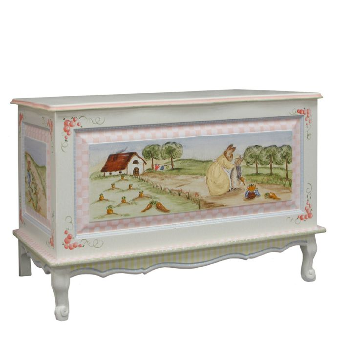 French Toy Chest in Enchanted Forest by AFK Art For Kids