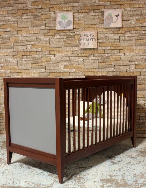 Casey Crib in Chocolate and French Grey by Newport Cottages