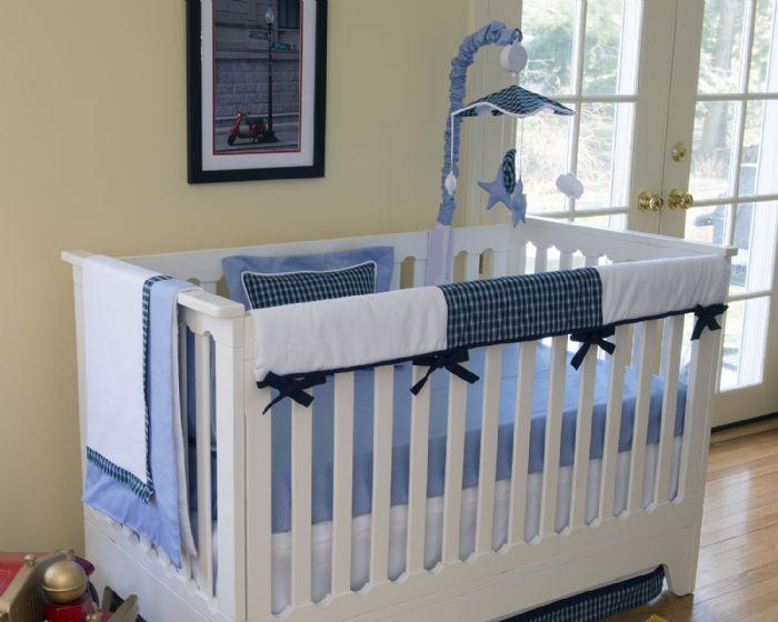Hunter Crib Baby Bedding- Crib Rail Covers by Bebe Chic
