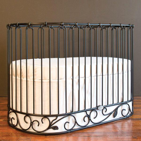 J'Adore Crib-Cradle in Distressed Black by Bratt Decor