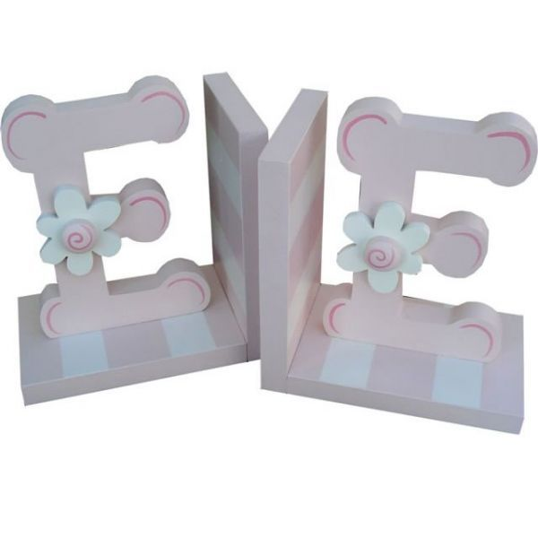 Initial Pink Bookends by Wish Upon A Star