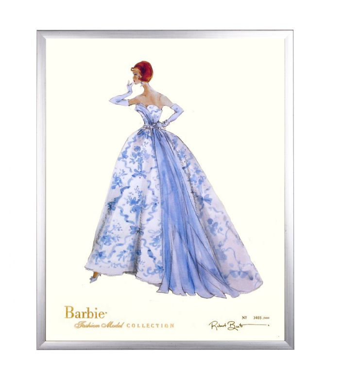 Limited Edition Fashion Model Barbie- Provencale in Silver by AFK Art For Kids
