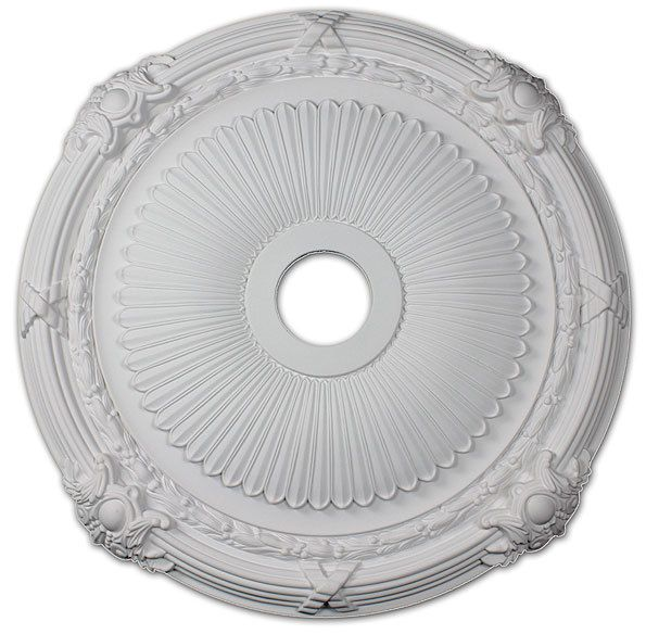 Ribbons Ceiling Medallion in Antique White by I Lite 4 U